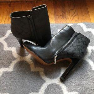 COACH grey booties 6.5 NWOT